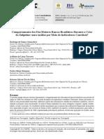 Gonçalves e Tavares (2012) - Comportamento Dos Dez Maiores Bancos Brasileiros Durante a Crise Do Subprime Uma Análise Por Meio de Indicadores Contábeis