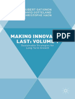 Making Innovation Last Volume 1 Sustainable Strategies for Long Term Growth