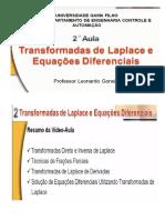 Transformadas de Laplace e Equações Diferenciais - Curso de Sistemas Controle