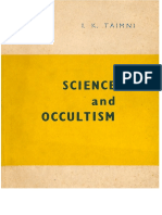 Science and Occultism - I. K. Taimni