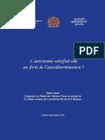 Questio sur la compatibilité du Plan Autonomie avec le droit international