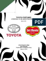 Toyota Fortuner Bago