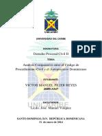 Análisis Comparativo entre el Código de Procedimiento Civil y el Anteproyecto Dominicano.docx