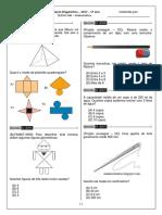 II Avaliação Diagnóstica -  5ºano -  Matemática -  2017 - SEDUC - AMAZONAS