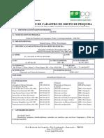 GELPOC Formulario Grupo Pesquisa