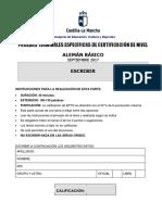 Alemán Básico-A2 Expresión Escrita. Prueba