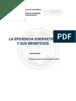 La Eficiencia Energetica y Sus Beneficios