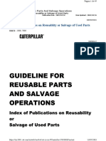 Index of Publications on Reusablity or Salvage of Used Parts