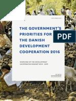 Las prioridades del gobierno para la cooperación danesa para el desarrollo 2016-2019
