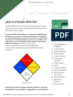 ¿Qué Es El Rombo NFPA 704_ » TP - Laboratorio Químico