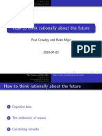 How to think rationally about the future