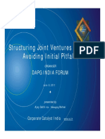 Joint Ventures in India Avoiding Initial Pitfalls