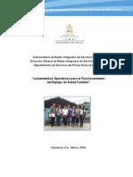 Lineamientos Operativos Para El Funcionamiento Del Equipo de Salud Familiar 2016