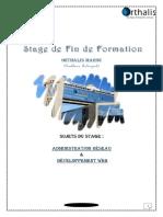Rapport de Stage - Administration Réseau Et Dévéloppement Web