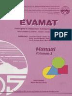 Manual de Aplicación Del 0 Al 4 (Evamat)