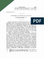 Braudel Historia e Ciencias Sociais a Longa Duração