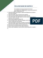 Práctica de Base de Datos i