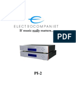Electrocompaniet PI-2 Manual