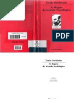 O Que é Fato Social - Émile Durkheim - As Regras Do Método Sociológico