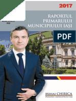Raportul de Activitate Al Primarului Municipiului Iasi Pe Anul 2017