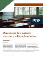 Tenti, E. (2008). Dimensiones de la exclusión educativa y políticas de inclusión. Revista Colombiana de Educación, 54, 60-73