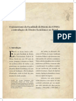 CLARK, Giovani. O Pioneirismo Da Faculdade de Direito Da UFMG a Introdução Do Direito Econômico No Brasil