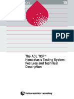130 the ACL TOP Hemostasis Testing System Feature and Technical Description