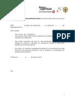 Anexo III Modelo Carta Prof