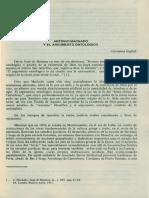 Antonio Machado y El Argumento Ontologico