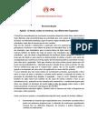 Recomendação PS - Pela Realização de Encontros Semanais Do Agita Seixal