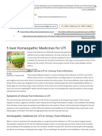 5 Best Homeopathic Medicine in urinary tract infections