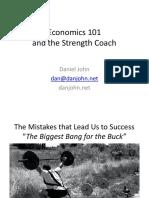 Dan John - Economics 101 and the Strength Coach