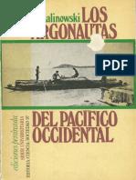 Introducción Malinowski - 1920 Los argonautas del pacifico occidental