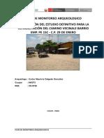 Plan de Monitoreo Arqueologico Cusco -Pe