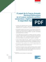El Papel de La Fuerza Armada Pos Chavez