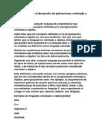 C Software Para El Desarrollo de Aplicaciones Orientada a Objetos.