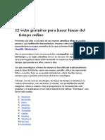 12 Webs Gratuitas Para Hacer Lineas Del Tiempo Online