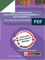 Cómo Realizamos La Caracterización Sociolingüística y Psicolíngüística en La Educación Intercultural Bilingüe
