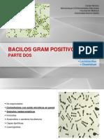 Clase 9. Bacilos Gram Positivos II