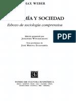 Weber Conceptos Sociológicos Fundamentales Extracto Economía y Sociedad