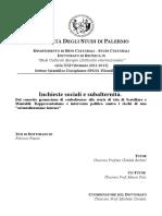 F. Fasulo, Inchieste Sociali e Subalternità. Dal Concetto Gramsciano Di Subalterno Alle Storie Di Vita Di Scotellaro e Montaldi.