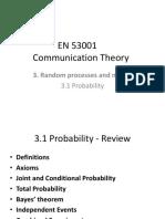 En 53001 Communication Theory - 3.1 LEctures Slides - Dr Abdul Haleem