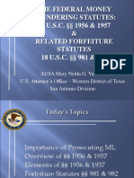 THE FEDERAL MONEY LAUNDERING STATUTES: