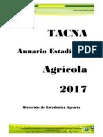 Tacna Anuario Estadistico Agricola 2017