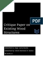Timber Critique Paper Draft
