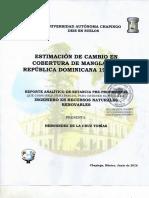 """""""Estimación de cambio en cobertura de manglar en República Dominicana 1980-2014"""","""
