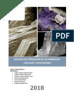 Termo Entalpia de Minerales