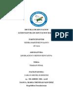 Trabajo Final de Yenika Legislacion Ley 66-97