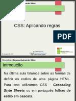 10.Aula 5 - CSS - Aplicando Regras CSS