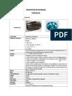 Descripción de minerales
